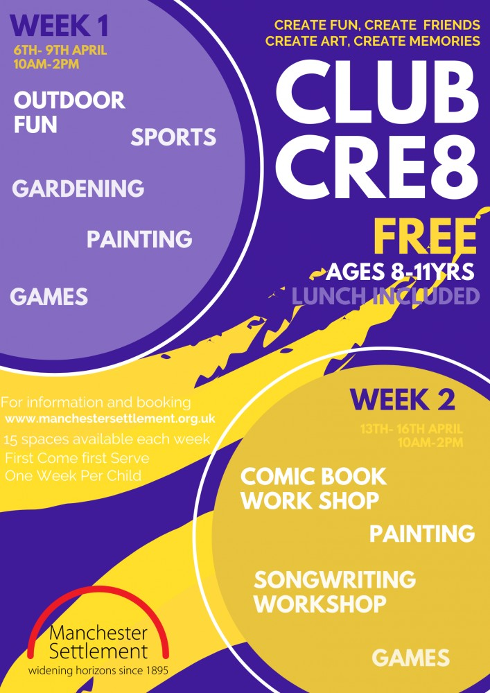Poster with more holiday info for Club cre8